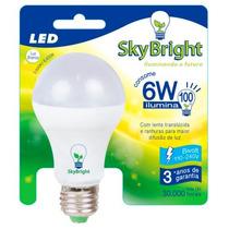 Kit 5 Lâmpada Led Sky Bright 6w Ilumina 100w - 3000k - Bulbo