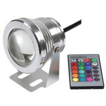 Refletor Holofote Piscina Led Rgbw + Controle Remoto + Fonte