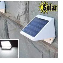 Luminaria Solar 4 Led Muro Cerca Jardim Canteiro Parede Etc