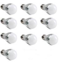 Kit 10 Lâmpada Led 7w Bulbo Bivolt E27 - Branco Quente