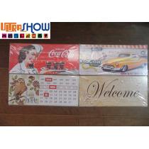 Placa Decorativa Importada Metal 46x20 Vintage Rock Cocacola