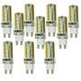 Kit Com 10 Lâmpadas Led Halopim G9 3w Bivolt Branco Frio