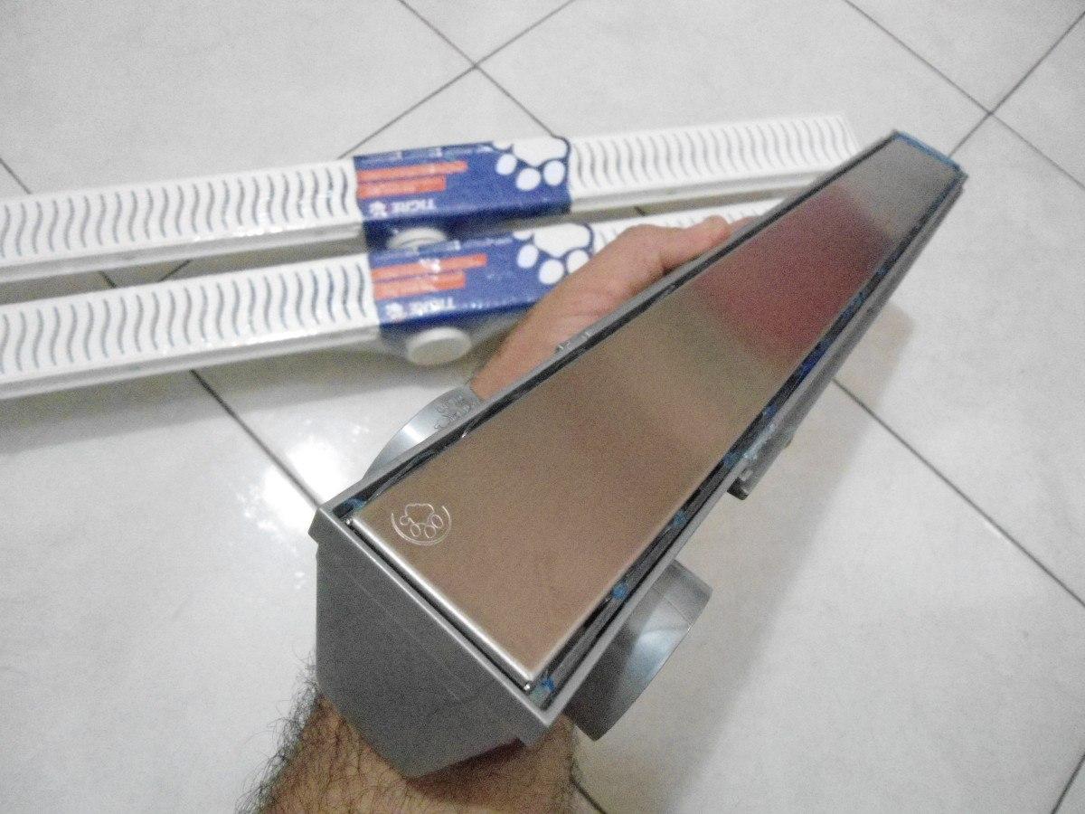 Lançamento Ralo Linear 50cm Grelha Inox R$ 170 00 no MercadoLivre #344264 1200 900