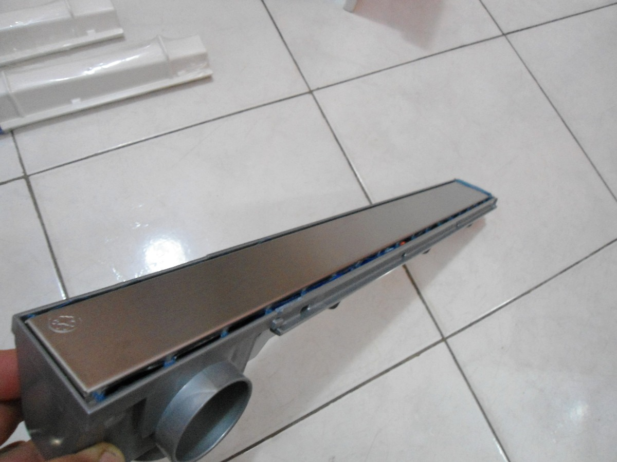 Pics Photos Ralo Linear Para Box Com Bojo Inox #414E5B 1200 900