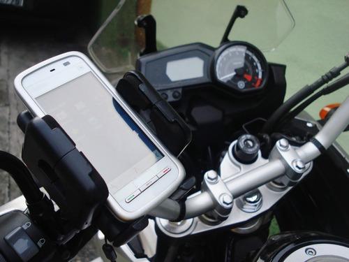 Lançamento Suporte Para Moto Fixar Gps Celular Iphone Galaxy