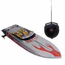Brinquedo Novo Aqua Deluxe Lancha Superluxo Controle Remoto