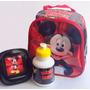 Lancheira Térmica Infantil Mickey Mouse Com Alças E Potinhos