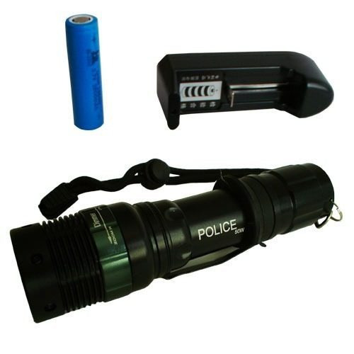 Lanterna Tática Police Power Style 500 Lumens Zoom Recarregá