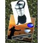 Kit Pesca Camping - Lampião 36 Led Solar + Lanterna Luz Azul