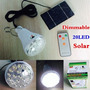 Lâmpada Led Com Painel Solar +controle Remoto