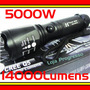 Lanterna Tatica Policial Hy-e1 5000w 14000l Bateria 26650