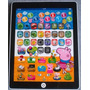 Mini Tablet Infantil Peppa Pig Interativo Multifunções A,b,c