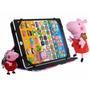 Tablet Infantil Peppa Pig Educativo + Capa Pelucia Chaveiro