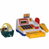 Caixa Registradora Com Scanner, Cartão, Dinheiro Brinquedo