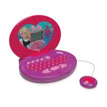 Laptop Barbie Glamour Bilíngue 60 Atividades Infantil Boneca