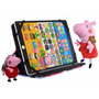 Tablet Infantil Educativo Peppa Pig + Capa Pelucia Chaveiro