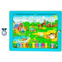 Tablet Infantil Fazendinha Azul Ou Rosa