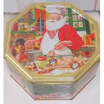 Lata Vazia De Biscoitos Motivos Natalinos E Papai Noel