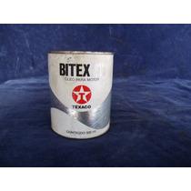 Lata Oleo Antiga Texaco Bitex Cheia