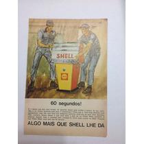 Cartaz Propaganda Antiga Da Shell Década De 60
