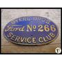 Antiga Placa Ford Service Club De Para-choque Em Latão
