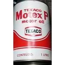 Lata Antiga Óleo Motor Motex P Texaco