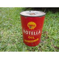 Lata Óleo Shell Rotella 5 Litros Antiga Texaco Shelll