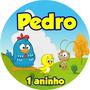 50 Adesivos Galinha Pintadinha Para Latinha Mint To Be 5x1cm