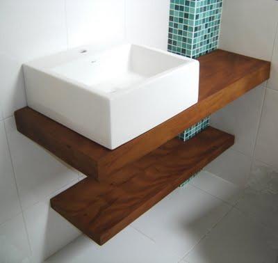 bancadas para banheiros e lavabos : Lavabos E Bancadas, Pia Banheiro - Em Madeira De Demoli??o - R$ 400 ...