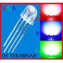 Led 5mm Rgb/4 Terminais - Perfil Baixo - 25 Peças = R$ 30,00