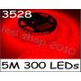 Fita De Led Vermelha Led Flexível Smd 3528 5 Metros P/ Agua