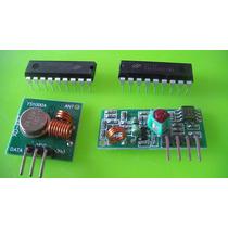 Controle Remoto Rf 433mhz + Encoder Ht12e / Decoder Ht12d