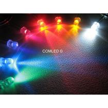 20x Mini Led Alto Brilho Neon 3mm Várias Cores Luz Leds