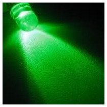 100pcs Led Verde 5mm Alto Brilho Transparente Luz Arduino