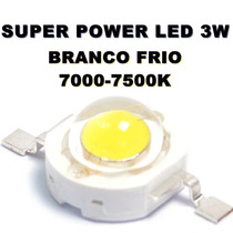 Chip Super Power Led 3w 3v Branco Frio 7000-7500k