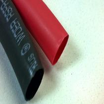 Espaguete Isolante Termo Retratil 6mm Vermelho E Preto 5mts