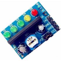 Par De Vu 5 Led Bargraph Nível Audio E Baterias Frete $9