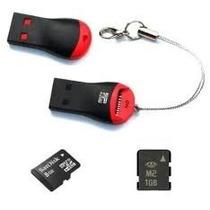 Kit 30 Peças - Mini Leitor Usb Para Micro Sd -kit Atacado