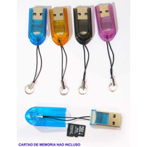 Mini Leitor E Gravador De Cartão De Memória Micro Sd Usb 2.0