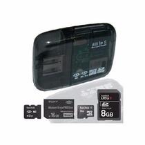 Leitor Cartões Usb Cartão Memória Sd Micro Mini Ms Pro Duo