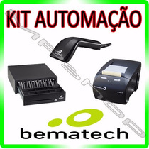 Kit Automação Comecial Bematech Leitor + Impressora + Gaveta