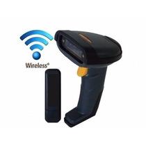 Leitor Código Barras Laser Scanner Sem Fio Wireless Usb Novo