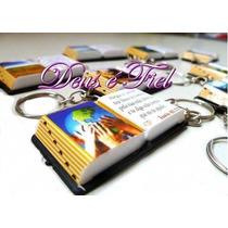 300 Mini Bíblia Lembrancinhas C/ Chaveiro Só Evangélico