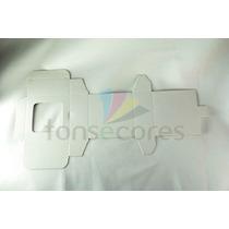 100 Caixa De Papelão Dobrável Branca 7x6x3cm Tonsecores