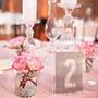 Placa Número Mesa Casamento Debutante Festa 25 Peças
