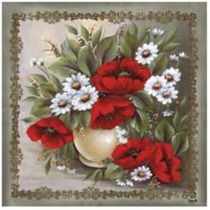 Kit C/ 20 Guardanapos Decoupage Papoulas Flores 33cm