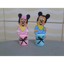 Lembrancinha Com Toalhinha Para Centro De Mesa Mickey Baby