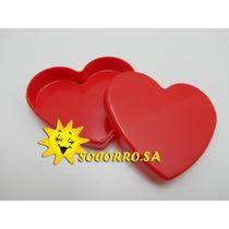 Caixinha Coração Acrilica 7x2 Pacote Com 20 Unidades.