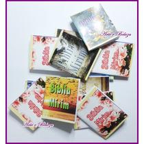 100 Mini Bíblia Mirim Lembrancinhas Só Evangélicos