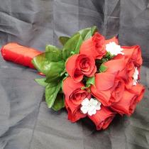 Bouquet Casamento/noiva Rosas Vermelhas Modelo Elegance